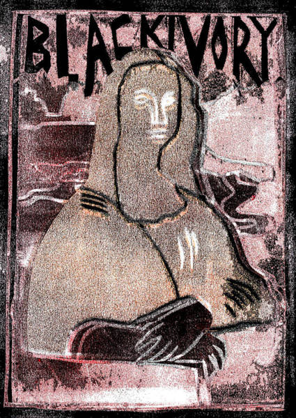 Relief - Black Ivory Mona Lisa 25 by Artist Dot