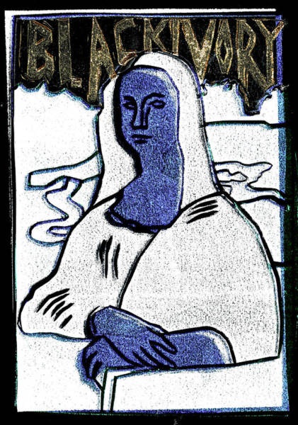 Relief - Black Ivory Mona Lisa 3 by Artist Dot