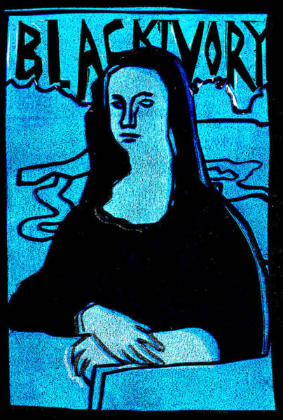 Relief - Black Ivory Mona Lisa 32 by Artist Dot