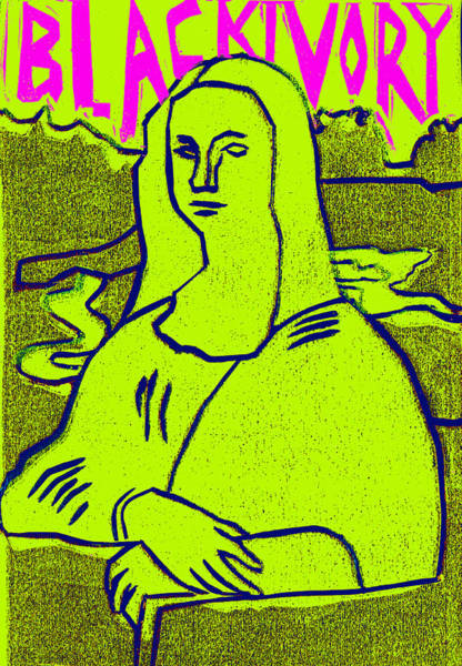 Relief - Black Ivory Mona Lisa 34 by Artist Dot