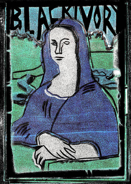 Relief - Black Ivory Mona Lisa 37 by Artist Dot