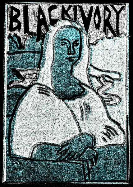 Relief - Black Ivory Mona Lisa 38 by Artist Dot