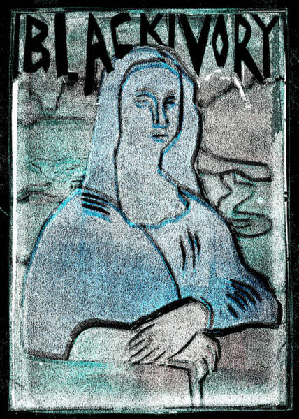 Relief - Black Ivory Mona Lisa 39 by Artist Dot