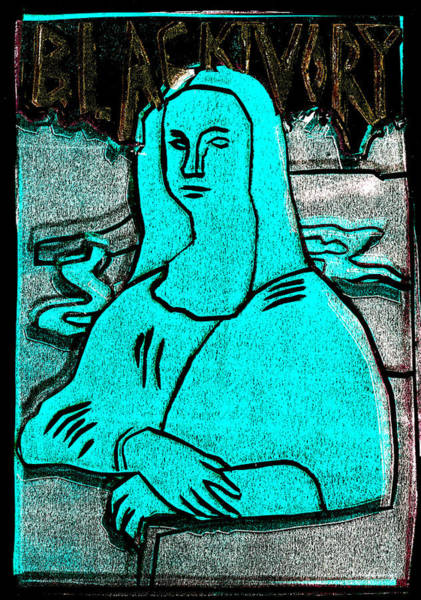 Relief - Black Ivory Mona Lisa 4 by Artist Dot