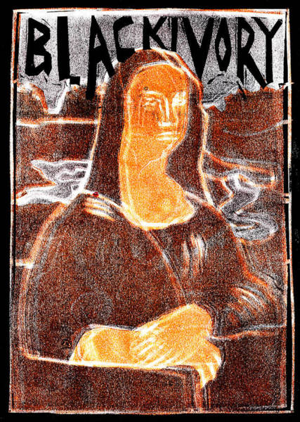 Relief - Black Ivory Mona Lisa 45 by Artist Dot