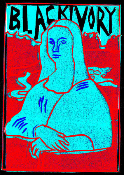 Relief - Black Ivory Mona Lisa 48 by Artist Dot