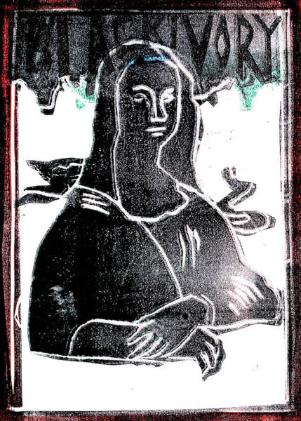 Relief - Black Ivory Mona Lisa 49 by Artist Dot