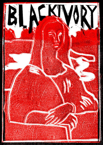 Relief - Black Ivory Mona Lisa 5 by Artist Dot