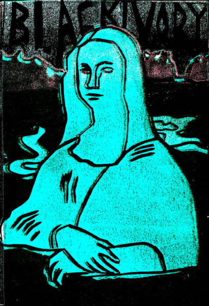 Relief - Black Ivory Mona Lisa 52 by Artist Dot