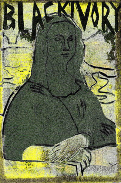 Relief - Black Ivory Mona Lisa 54 by Artist Dot