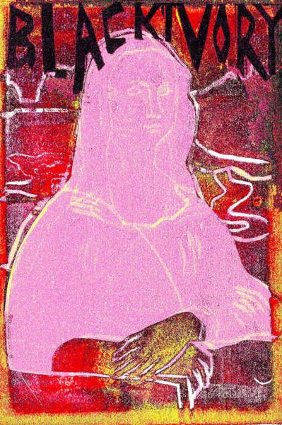 Relief - Black Ivory Mona Lisa 55 by Artist Dot