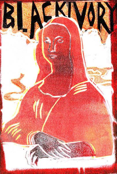 Relief - Black Ivory Mona Lisa 56 by Artist Dot