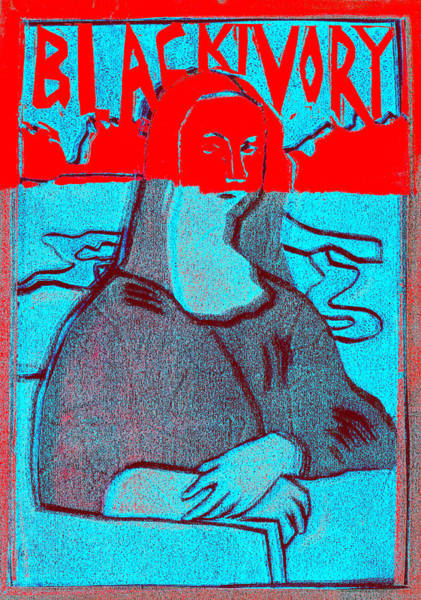 Relief - Black Ivory Mona Lisa 61 by Artist Dot