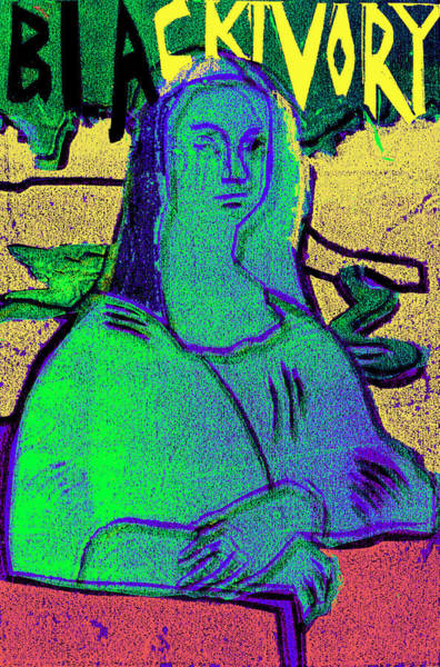Relief - Black Ivory Mona Lisa 64 by Artist Dot