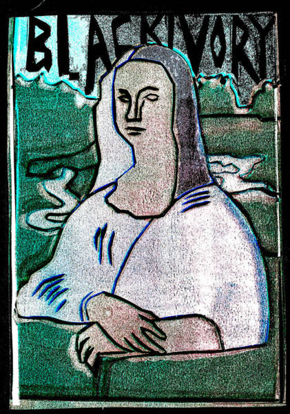 Relief - Black Ivory Mona Lisa 9 by Artist Dot