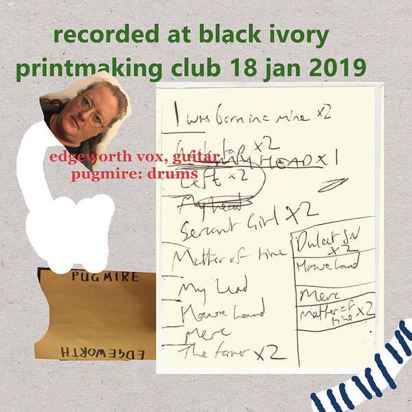 Mixed Media - Black Ivory Printmaking Club Album Art 4 by Artist Dot