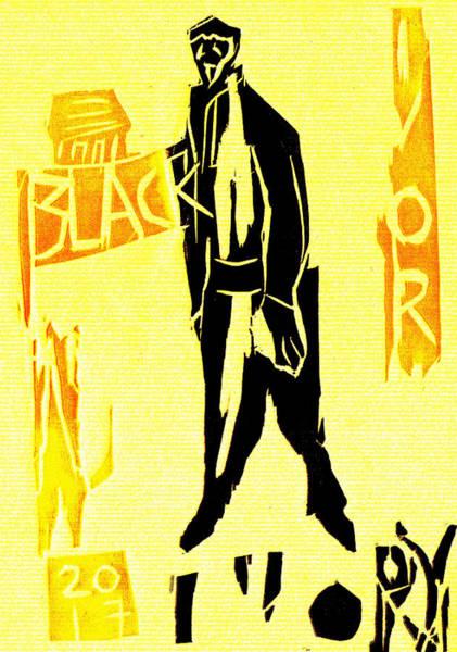 Digital Art - Black Ivory Woodcut Poster 21 by Artist Dot