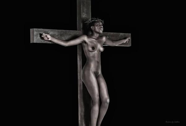 Wall Art - Photograph - Black Jesus Praying by Ramon Martinez
