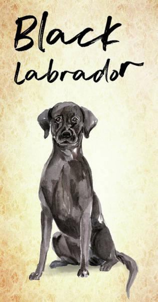 Wall Art - Painting - Black Labrador Beautiful Dog by Matthias Hauser