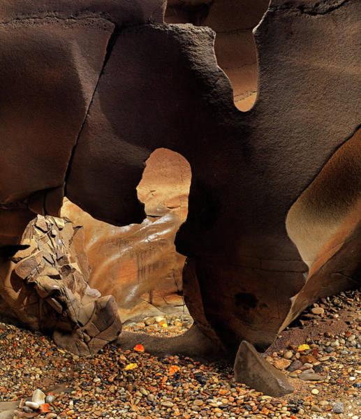 Photograph - Black Magic Canyon Shape by Leland D Howard