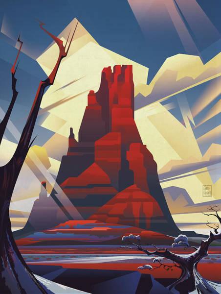 Arizona Digital Art - Black Mesa Arizona by Garth Glazier