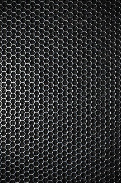 Fiber Photograph - Black Metal Mesh Background Made Up Of by Dp photo