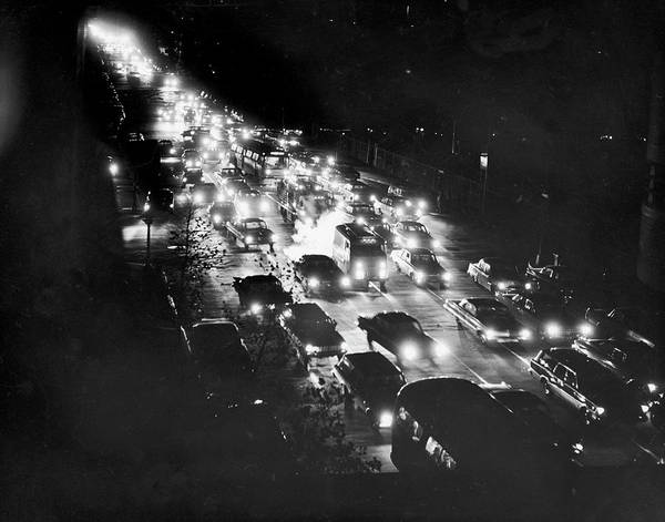 First Light Wall Art - Photograph - Black Out Traffic by Hulton Archive