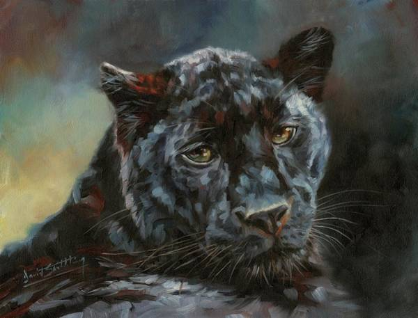 Painting - Black Panther 2 by David Stribbling