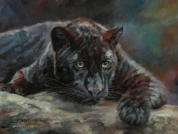 Painting - Black Panther 4 by David Stribbling