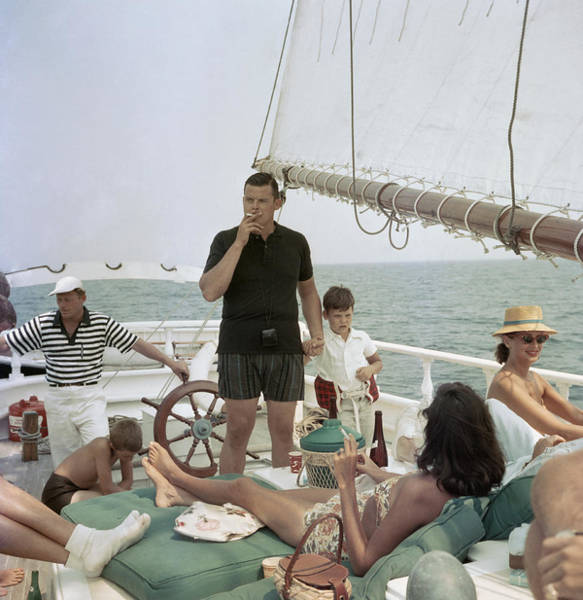 Black Pearl Trippers Art Print by Slim Aarons