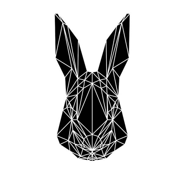 Animals In Clothes Wall Art - Digital Art - Black Rabbit by Naxart Studio