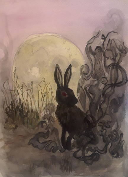 Primal Painting - Black Rabbit Of Inle by Jennie Hallbrown