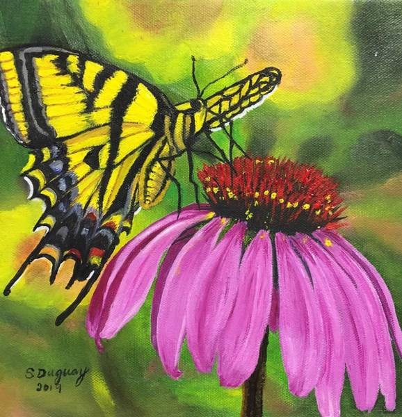Painting - Black-sampson Echinacea by Sharon Duguay