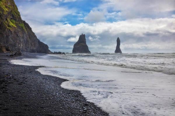 Photograph - Black Sand Beach by Debra and Dave Vanderlaan
