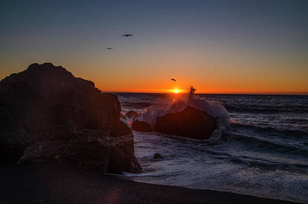 Photograph - Black Sands Beach At Sunset - California by Bill Cannon