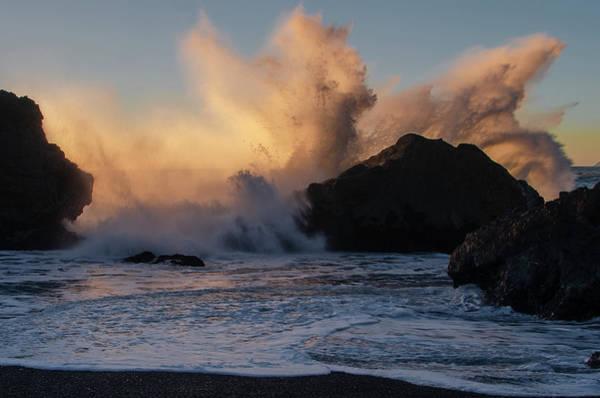 Photograph - Black Sands Beach - Hard Surf by Bill Cannon