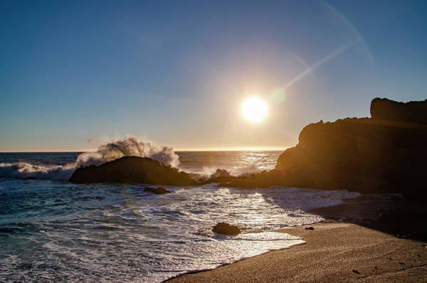 Photograph - Black Sands Beach - Shelter Cove At Sunset by Bill Cannon