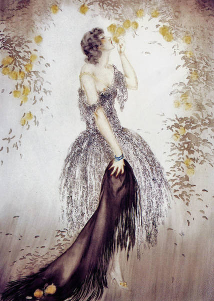 Wall Art - Painting - Black Shawl - Digital Remastered Edition by Louis Icart