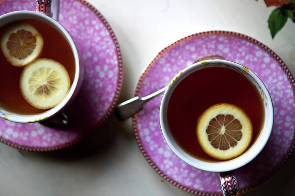 Lemon Photograph - Black Tea With Lemon by Daiva Baumiliene