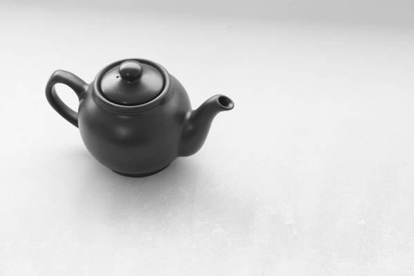 Teapot Photograph - Black Teapot by Lucian Simionesei