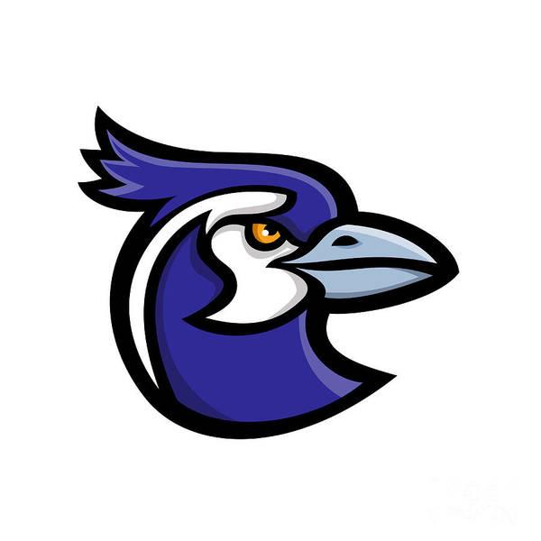 Wall Art - Digital Art - Black-throated Magpie-jay Mascot by Aloysius Patrimonio