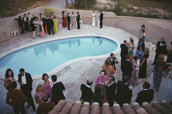 Evening Wear Photograph - Black Tie Evening by Slim Aarons