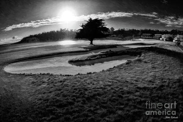 Photograph - Black Tree Pebble Beach 18th Hole by Blake Richards