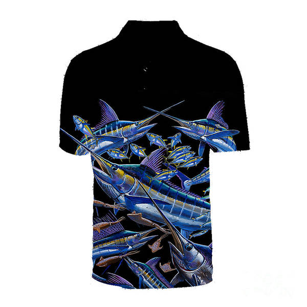 Wall Art - Photograph - Black Ultimate Goal Mens Polo by Carey Chen