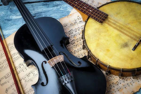 Wall Art - Photograph - Black Violin And Banjo by Garry Gay