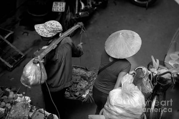 Wall Art - Photograph - Black White 3 Of 4 Hanoi  by Chuck Kuhn