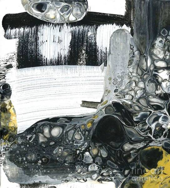Painting - Black White And Gold Detail 2 by Angelika GAIGL