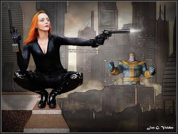 Photograph - Black Widow In Infinitiy War by Jon Volden