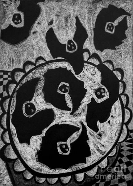 Drawing - Blackbird Pie by Cindy Suter