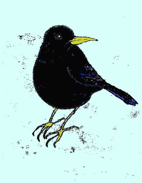 Engels Painting - Blackbird by Sarah Thompson-engels